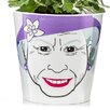 Queen Ceramic Pot Planter - Size: 3.9 inch High x 4.25 inch Wide x 4.25 inch Deep - Donkey Products Planters