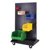 Quantum Storage Mobile Double Sided Louvered Rack
