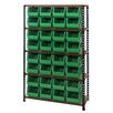 Quantum Storage Boltless Particle Board Shelf with Various Bins (Complete Package)
