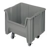 """Quantum Storage 17 1/2"""" Mobile Giant Stack Container (Set of 2)"""