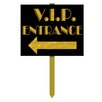 V.I.P. Entrance Yard Garden Sign - The Beistle Company Garden Statues and Outdoor Accents