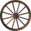 Wooden Wagon Wheel Burnt Garden Art - DDI Garden Statues and Outdoor Accents