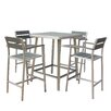 Boraam Industries Inc Canaria 5 Piece Bar Height Dining Set