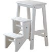 Boraam Industries Inc 3-Step Wood Step Stool