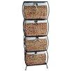 Pangaea Home and Garden Seagrass Basket Storage Pangaea Rattan 4 Drawer File Cabinet