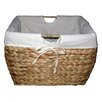 August Grove Tall Water Hyacinth Wicker Basket With