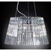 Metal Lux Circle 9 Light Crystal Pendant