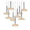 Metal Lux 36cm Capriccio Glass Lampshade