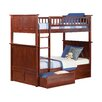 Atlantic Furniture Nantucket Twin Bunk Bed with Storage