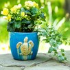 Elizabella Seaturtle Stoneware Pot Planter - Highland Dunes Planters