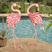 Kingstowne Flamingo Bird Statue - Bayou Breeze Garden Statues and Outdoor Accents
