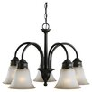 Sea Gull Lighting Gladstone 5 Light Chandelier with Glass