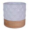 Embossed Geo Print Ceramic Pot Planter - Plum and Punch Planters