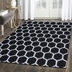 Simple Luxury Superior Hand Tufted Black/White 5' x 8' Area Rug