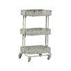 Linon Pierced Metal 3 Tier Shelf