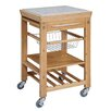 Linon Kitchen Cart with Granite Top
