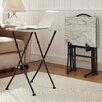 Linon Kildare 4 Piece Marble Tray Table Set