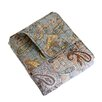 Greenland Home Fashions Paisley Dream Cotton Quilted Throw