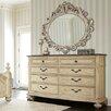 American Drew Jessica Mcclintock Boutique 8 Drawer Dresser with Mirror