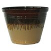 Bellwood Indoor/Outdoor Resin Pot Planter - Color: Brown - Breakwater Bay Planters
