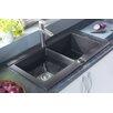 """Astracast 33"""" x 20"""" Geo Granite ROK Double Bowl Kitchen Sink"""