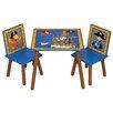 Kidsaw 3-tlg. Kinder Tisch und Stuhl-Set Pirate