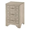 StyleCraft Home Craig 3 Drawer Nightstand