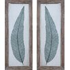 Uttermost Tall Leaves by Grace Feyock 2 Piece Framed Painting Print Set