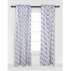 Bacati Mini Elephants Single Curtain Panel