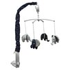 Bacati Elephants Blue & Gray Musical Mobile