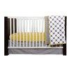 Bacati Dots/Pin Stripes 9 Piece Crib Bedding Set
