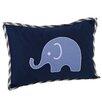 Bacati Elephants Decorative Cotton Boudoir/Breakfast Pillow