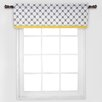 Bacati Dots/Pin Stripes Window Curtain Valance