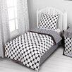 Bacati Dots/Pin Stripes 4 Piece Toddler Bedding Set