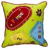 Bacati Sunshine Embroidered Decorative Cotton Throw Pillow