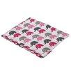 Bacati Elephants Fitted Crib Sheet