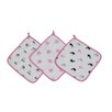 Bacati Little Sailor Boats / Whales Wash Cloths Towel (Set of 3)