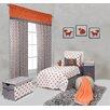Bacati Playful Fox 4 Piece Toddler Bedding Set