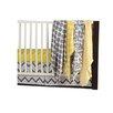 Bacati Ikat Dots/Giraffe 6 Piece Crib Bedding Set