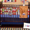 Bacati Transportation Fitted Crib Sheet