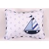 Bacati Little Sailor Decorative Cotton Throw Pillow