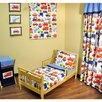 Bacati Transportation 4 Piece Toddler Bedding Set