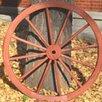 Decorative Antique Wagon Garden Wheel - Gardenised Garden Statues and Outdoor Accents