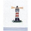 Kracht Piquettuch Leuchtturm aus Baumwolle