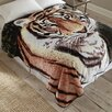 Shavel Home Products Tiger Throw Blanket
