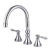 Elements of Design Double Handle Deck Mount Solid Brass Roman Tub Faucet Trim Templeton Lever Handle