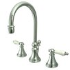 Elements of Design Madison Widespread Bathroom Faucet with Double Porcelain Lever Handles
