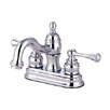 Elements of Design Vintage Centerset Bathroom Faucet with Double Buckingham Lever Handles
