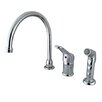 Elements of Design Widespread Kitchen Faucet with Wyndham Loop Handle