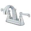 Elements of Design Elizabeth Centerset Bathroom Faucet with Double Lever Handles